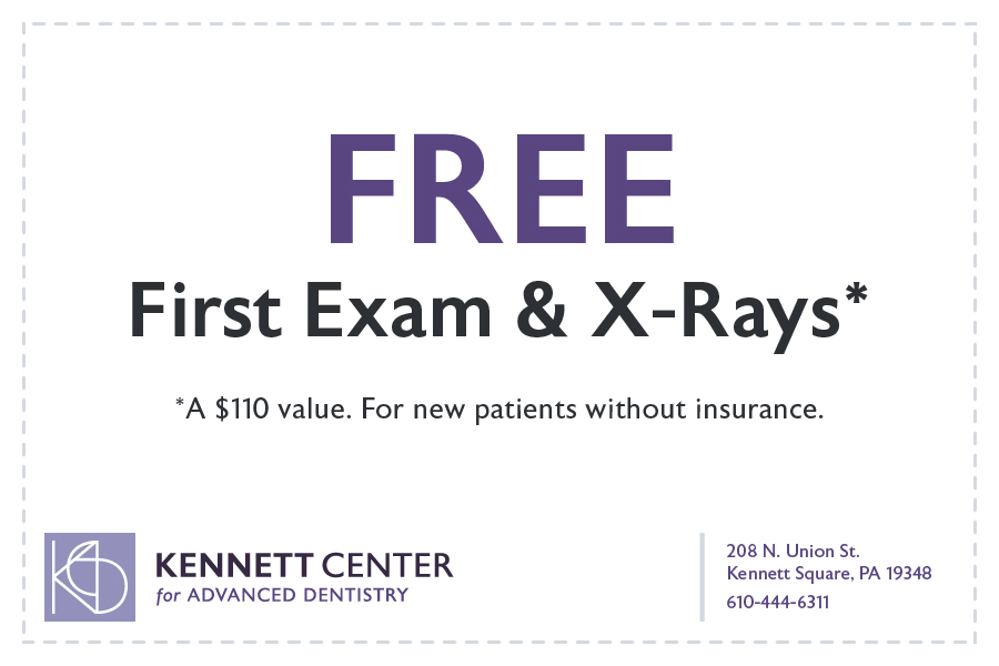 FREEFirst Exam & X-Rays.* *A $110 value. For new patients without insurance.
