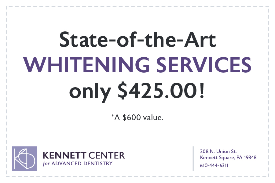 State-of-the-ArtWhitening Servicesonly $425.00! *A $600 value.